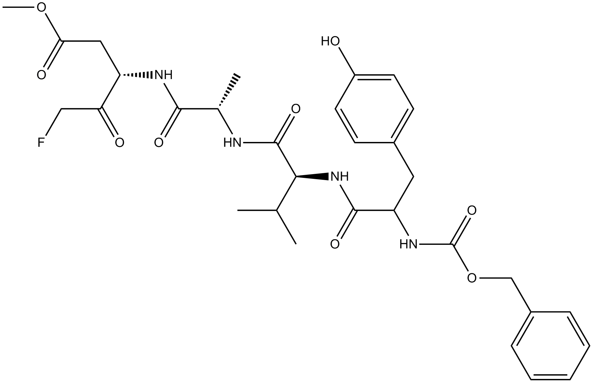 Z-YVAD-FMK Structure